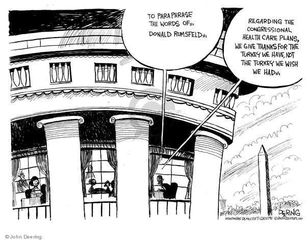 John Deering  John Deering's Editorial Cartoons 2009-11-27 White House