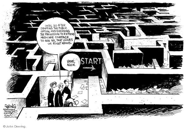 John Deering  John Deering's Editorial Cartoons 2009-12-18 health care reform