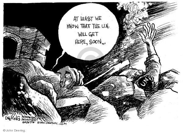 Cartoonist John Deering  John Deering's Editorial Cartoons 2010-01-14 destruction
