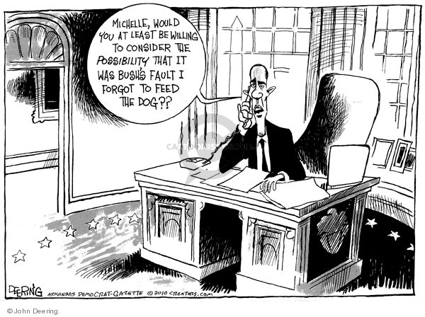 Cartoonist John Deering  John Deering's Editorial Cartoons 2010-01-22 George W. Bush
