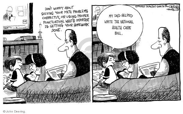 Cartoonist John Deering  John Deering's Editorial Cartoons 2010-01-23 health care legislation