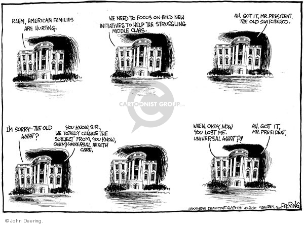 John Deering  John Deering's Editorial Cartoons 2010-01-27 White House