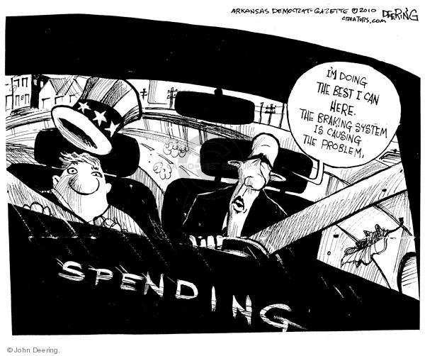 Cartoonist John Deering  John Deering's Editorial Cartoons 2010-02-05 budget deficit