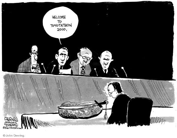 John Deering  John Deering's Editorial Cartoons 2010-02-25 hearing