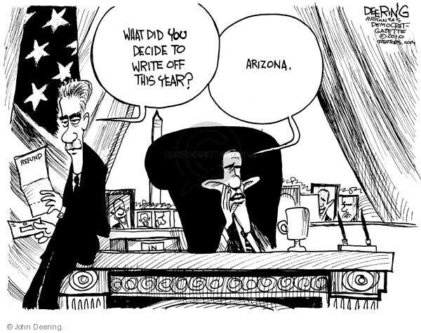John Deering  John Deering's Editorial Cartoons 2010-04-28 tax deduction