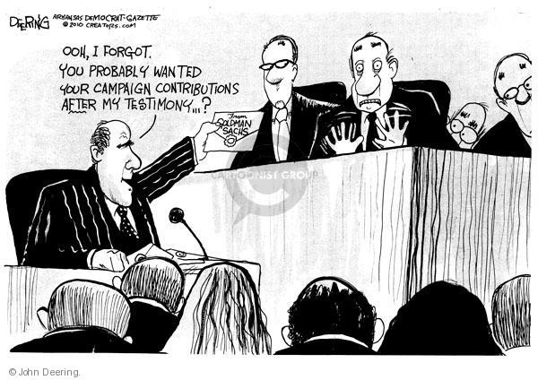 Cartoonist John Deering  John Deering's Editorial Cartoons 2010-04-29 banker