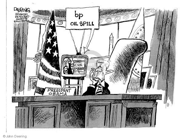 Cartoonist John Deering  John Deering's Editorial Cartoons 2010-06-04 oil