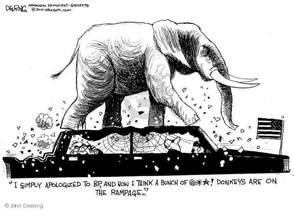 Cartoonist John Deering  John Deering's Editorial Cartoons 2010-06-21 partisan politics