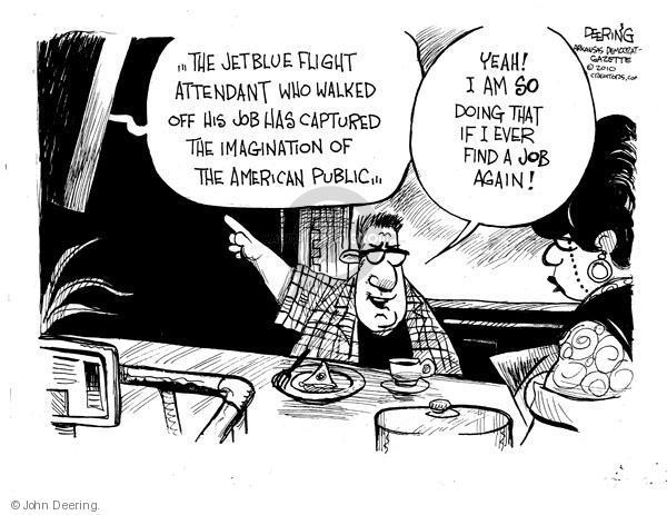 Cartoonist John Deering  John Deering's Editorial Cartoons 2010-08-12 unemployed