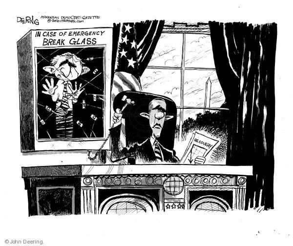 Cartoonist John Deering  John Deering's Editorial Cartoons 2010-08-13 George W. Bush