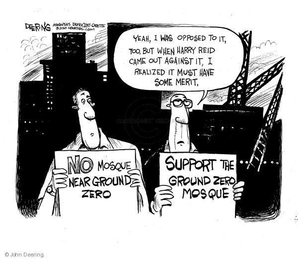 Cartoonist John Deering  John Deering's Editorial Cartoons 2010-08-19 senate majority leader