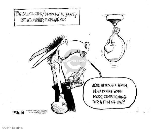 John Deering  John Deering's Editorial Cartoons 2010-09-28 Bill Clinton election