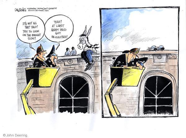 Cartoonist John Deering  John Deering's Editorial Cartoons 2010-11-03 senate majority leader