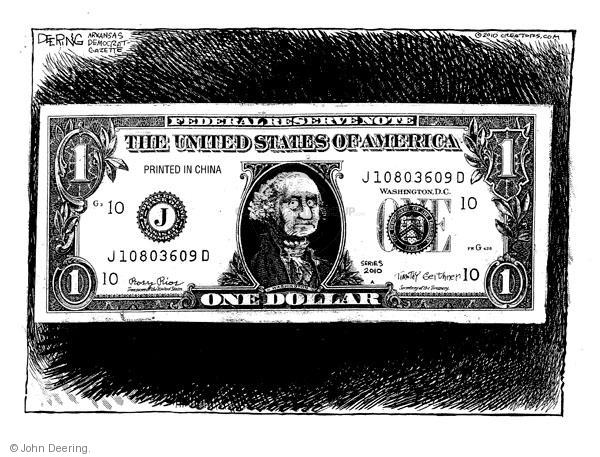 Federal reserve note. The United States of America. Printed in China. G 10. J. J10803609D. Washington, D.C. One. Series 2010. Timothy Geithner. Secretary of the Treasury. Rosy Rios. Treasurer of the United States. Washington. The Department of the Treasury 1789. FW G 428. Federal Reserve Bank of Kansas City, Missouri.