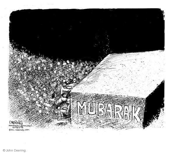 John Deering  John Deering's Editorial Cartoons 2011-02-01 protest