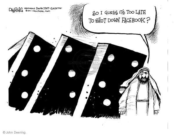 John Deering  John Deering's Editorial Cartoons 2011-02-03 protest