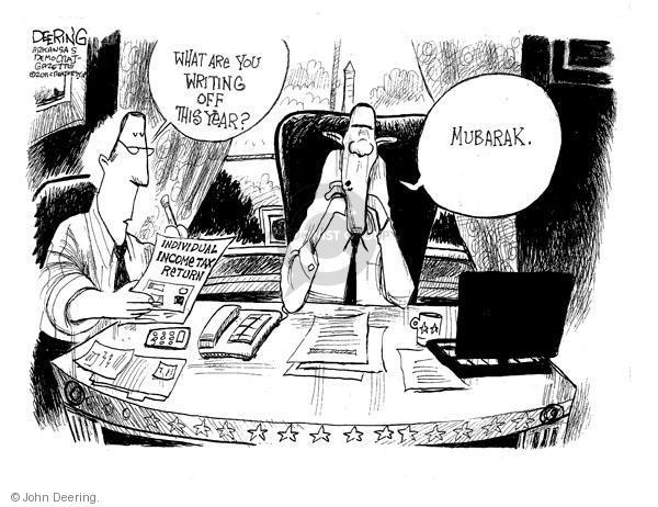 John Deering  John Deering's Editorial Cartoons 2011-02-04 tax deduction