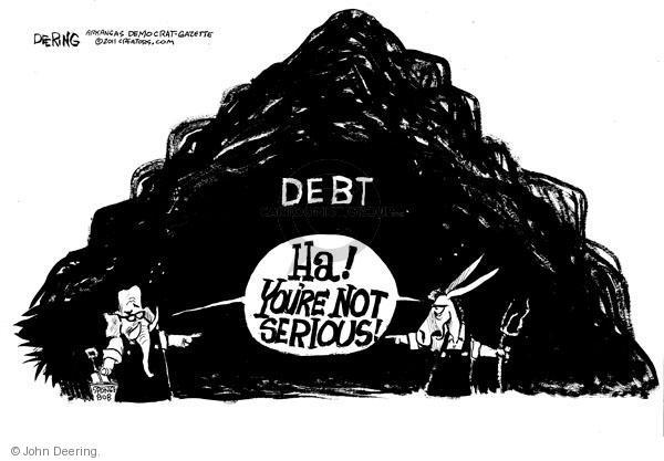 Cartoonist John Deering  John Deering's Editorial Cartoons 2011-02-17 budget deficit