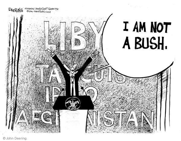 John Deering  John Deering's Editorial Cartoons 2011-03-22 George Bush