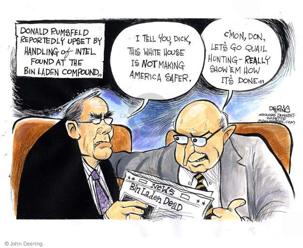 Cartoonist John Deering  John Deering's Editorial Cartoons 2011-05-10 Bush Cheney