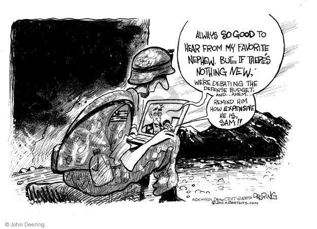 John Deering  John Deering's Editorial Cartoons 2011-06-15 federal budget
