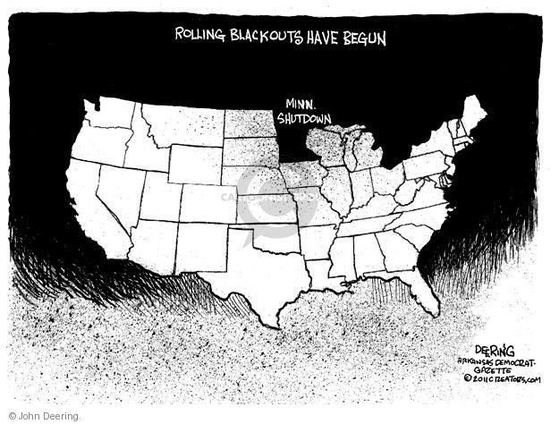 Cartoonist John Deering  John Deering's Editorial Cartoons 2011-07-06 government shutdown