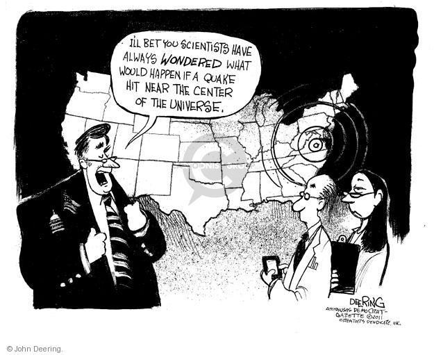 Cartoonist John Deering  John Deering's Editorial Cartoons 2011-08-24 reaction