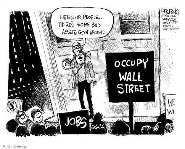 John Deering  John Deering's Editorial Cartoons 2011-10-08 protest