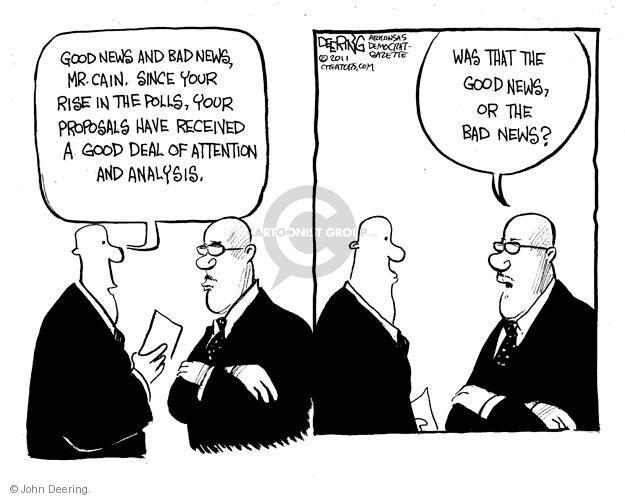 John Deering  John Deering's Editorial Cartoons 2011-10-26 bad news