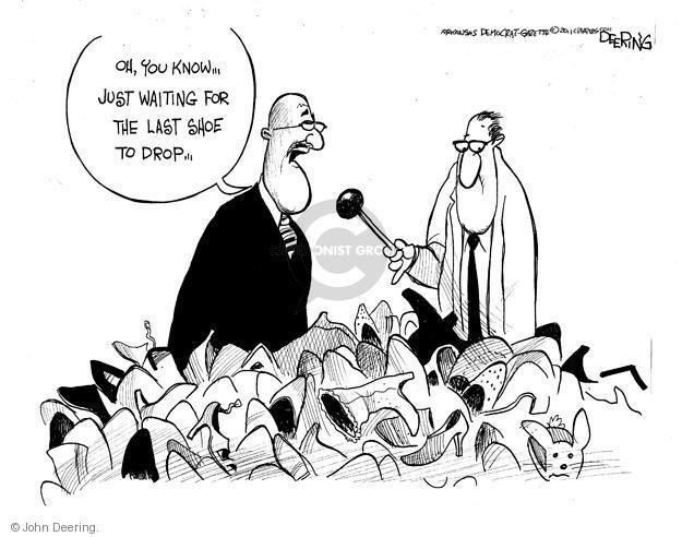 Cartoonist John Deering  John Deering's Editorial Cartoons 2011-11-12 reporter