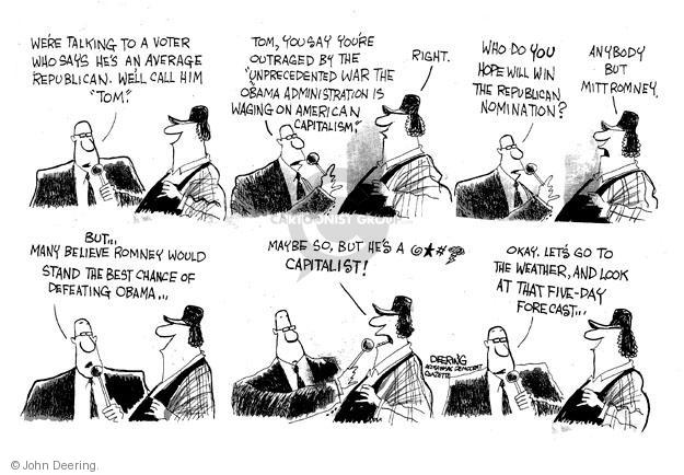 Cartoonist John Deering  John Deering's Editorial Cartoons 2012-01-11 reporter