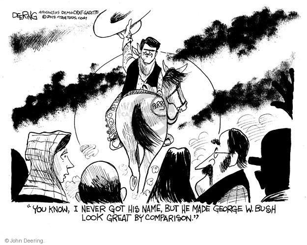 Cartoonist John Deering  John Deering's Editorial Cartoons 2012-01-20 Texas governor