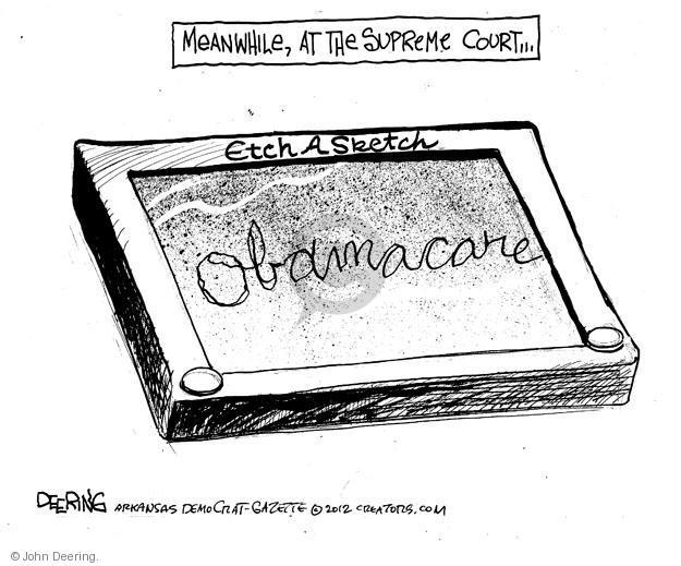 John Deering  John Deering's Editorial Cartoons 2012-03-29 Supreme Court