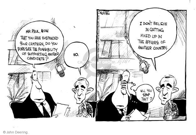 Cartoonist John Deering  John Deering's Editorial Cartoons 2012-05-15 Paul