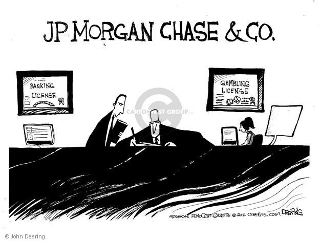 Cartoonist John Deering  John Deering's Editorial Cartoons 2012-05-20 banker