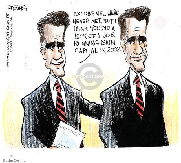 John Deering  John Deering's Editorial Cartoons 2012-07-18 2002 election