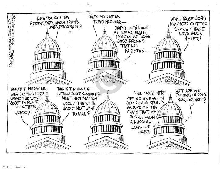 Cartoonist John Deering  John Deering's Editorial Cartoons 2012-07-27 unemployment