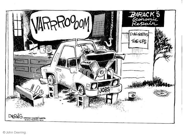 Cartoonist John Deering  John Deering's Editorial Cartoons 2012-08-06 unemployment
