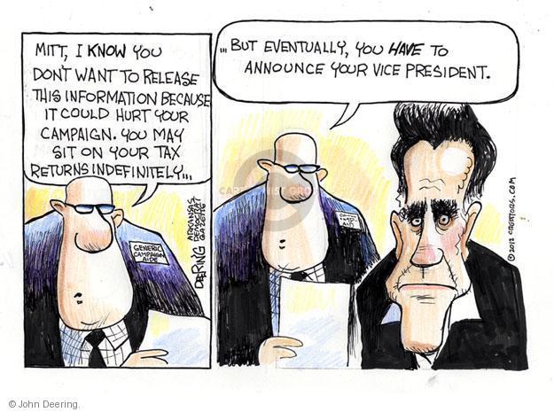 John Deering  John Deering's Editorial Cartoons 2012-08-07 vice president