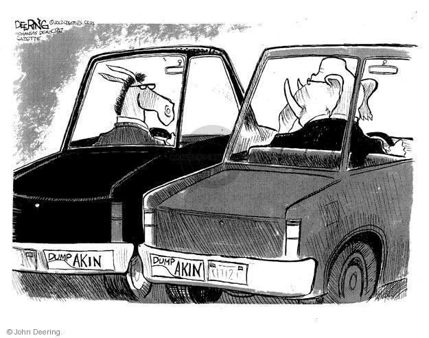 Cartoonist John Deering  John Deering's Editorial Cartoons 2012-08-22 republican senate