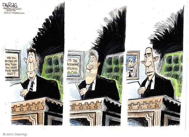 John Deering  John Deering's Editorial Cartoons 2012-09-05 2012 election economy