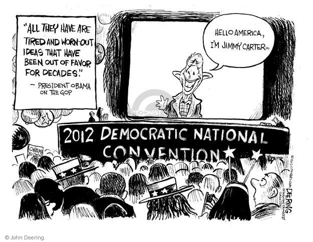 John Deering  John Deering's Editorial Cartoons 2012-09-06 2012 political convention