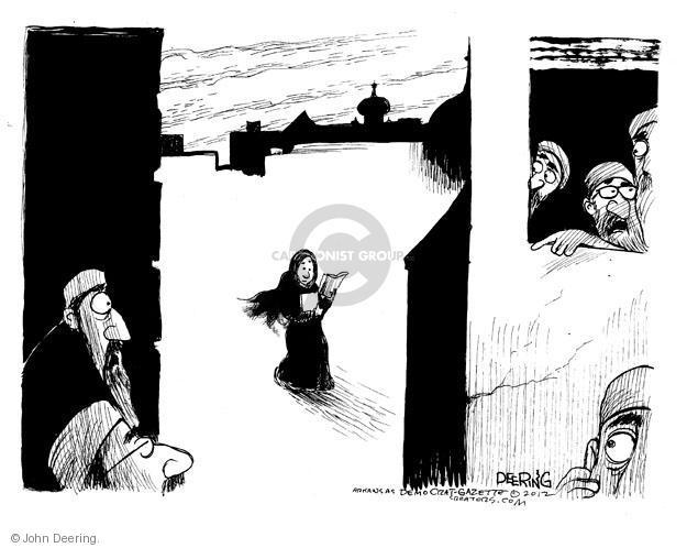 Cartoonist John Deering  John Deering's Editorial Cartoons 2012-10-23 man