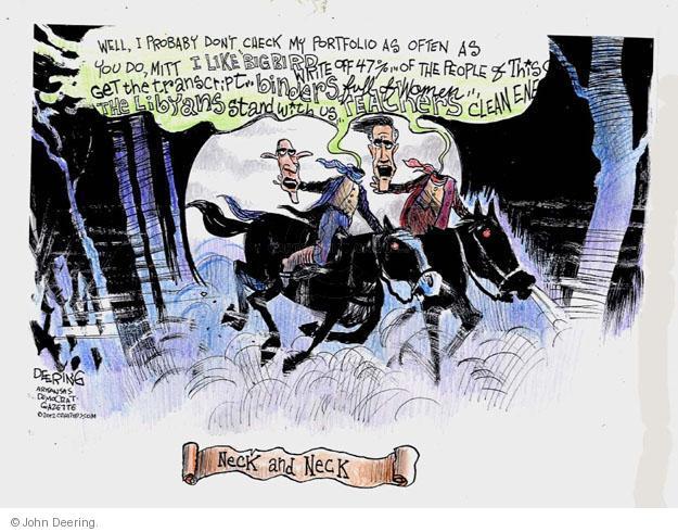 John Deering  John Deering's Editorial Cartoons 2012-10-25 2012 debate