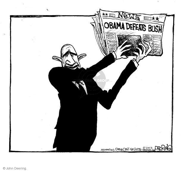 John Deering  John Deering's Editorial Cartoons 2012-11-07 George Bush