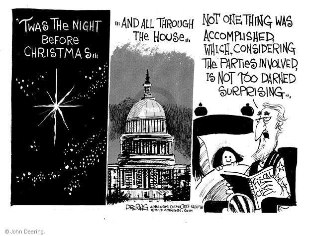 John Deering  John Deering's Editorial Cartoons 2012-12-22 'twas