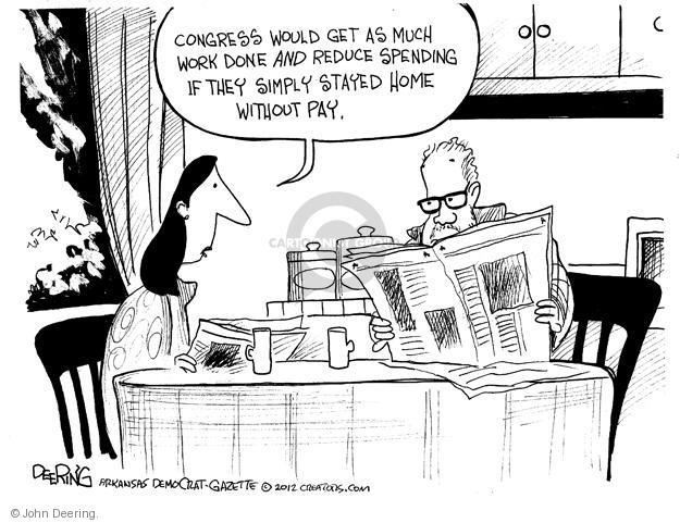 John Deering  John Deering's Editorial Cartoons 2012-12-30 Congress