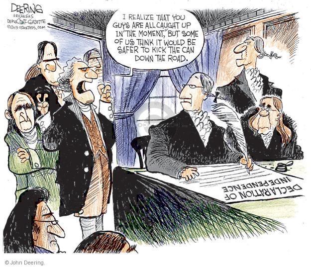 Cartoonist John Deering  John Deering's Editorial Cartoons 2013-01-05 Declaration of Independence