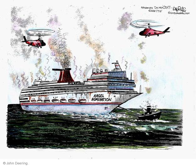 Cartoonist John Deering  John Deering's Editorial Cartoons 2013-02-17 boat