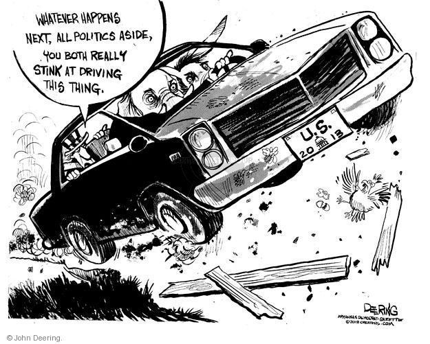 John Deering  John Deering's Editorial Cartoons 2013-02-27 federal budget